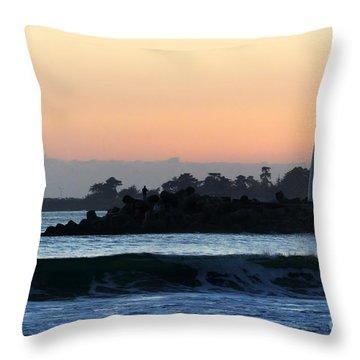 Lighthouses Of Santa Cruz Throw Pillow