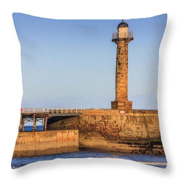 Lighthouses On The Piers Throw Pillow