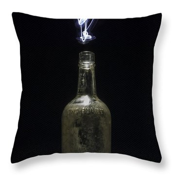 Throw Pillow featuring the photograph Lighting By The Quart - Light Painting by Steven Milner