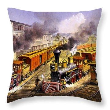 Lighting Express Throw Pillow
