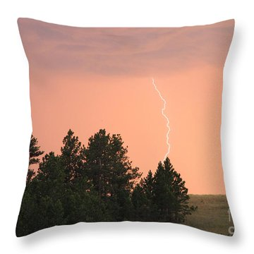Lighting Strikes In Custer State Park Throw Pillow