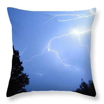 Lighting Up The Night Throw Pillow by Tiffany Erdman