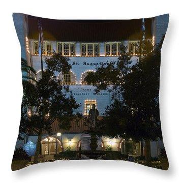 Lightner At Night Throw Pillow by Kenneth Albin