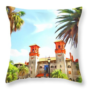 Lightner Museum  Throw Pillow by Marion Johnson