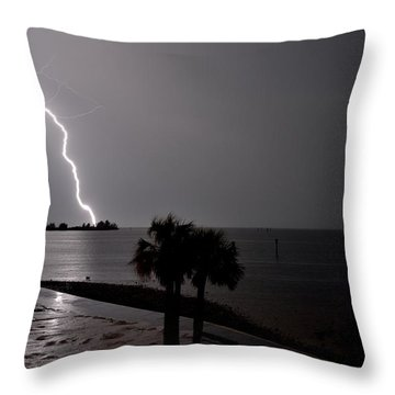 Throw Pillow featuring the photograph Lightning 1 by Richard Zentner