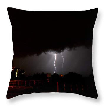 Throw Pillow featuring the photograph Lightning 10 by Richard Zentner
