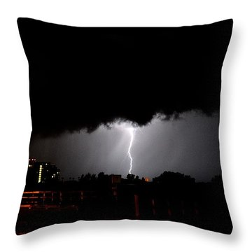 Throw Pillow featuring the photograph Lightning 11 by Richard Zentner