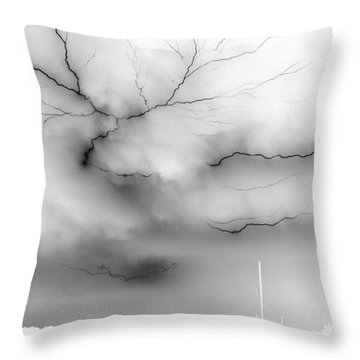 Throw Pillow featuring the photograph Lightning 4 by Richard Zentner