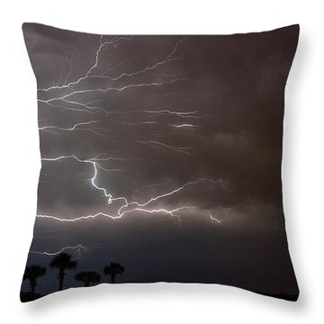 Throw Pillow featuring the photograph Lightning 5 by Richard Zentner