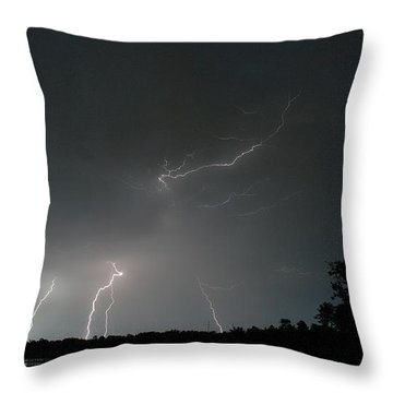 Throw Pillow featuring the photograph Lightning 6 by Richard Zentner