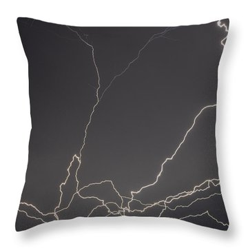 Lightning 6a Throw Pillow by Maggy Marsh