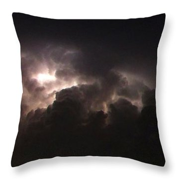 Throw Pillow featuring the photograph Lightning 7 by Richard Zentner