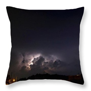 Throw Pillow featuring the photograph Lightning 9 by Richard Zentner