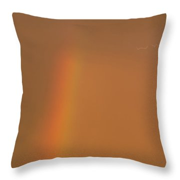 Throw Pillow featuring the photograph Lightning And Rainbow by Rob Graham