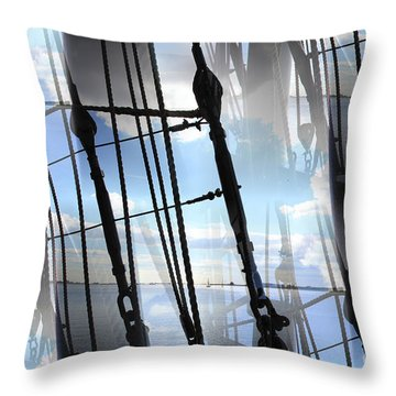 Lightning And Shadows Throw Pillow