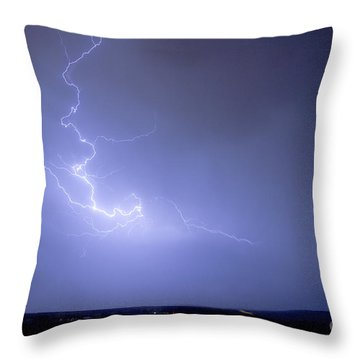Lightning Goes Boom In The Middle Of The Night Throw Pillow by James BO  Insogna