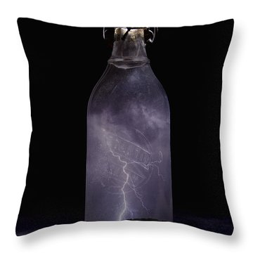 Lightning In A Bottle Throw Pillow by John Crothers