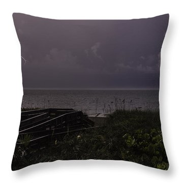 Lightning On The Water Throw Pillow