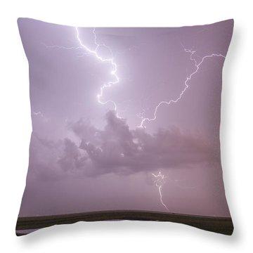 Lightning Over Cheyenne Bottoms Throw Pillow