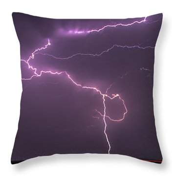 Throw Pillow featuring the photograph Lightning by Rob Graham