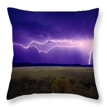Lightning Serengeti Throw Pillow