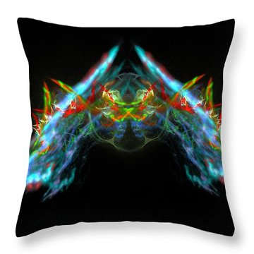 Lightning Storm Throw Pillow by Bruce Nutting