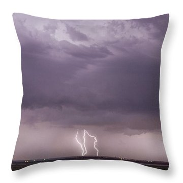Throw Pillow featuring the photograph Lightning Storm by Rob Graham
