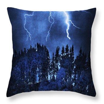 Lightning Throw Pillow by Svetlana Sewell