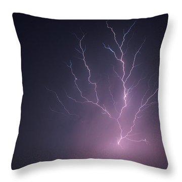 Lightning...energy Throw Pillow by Tom Druin
