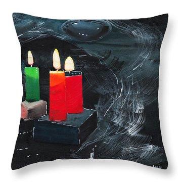 Lights Throw Pillow by Anil Nene