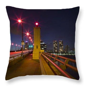 Lights At Night Throw Pillow