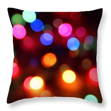 Throw Pillow featuring the photograph Lights by Elizabeth Budd