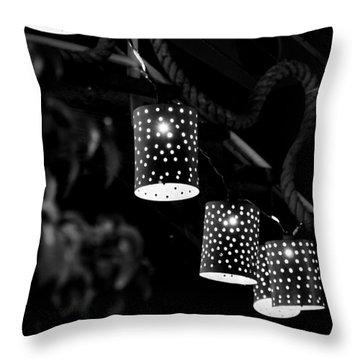 Lights Throw Pillow by Gandz Photography