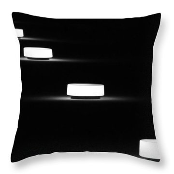 Lights In A Row Throw Pillow