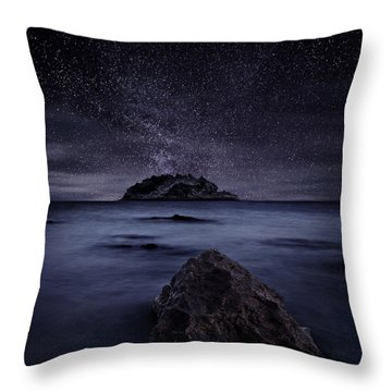Lights Of The Past Throw Pillow by Jorge Maia