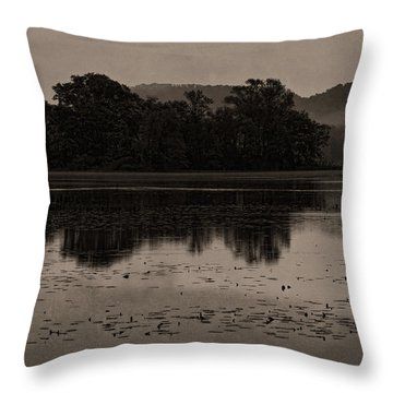 Lights On The Mississippi Throw Pillow