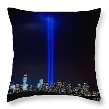 Lights Over Nyc Throw Pillow by Nick Zelinsky