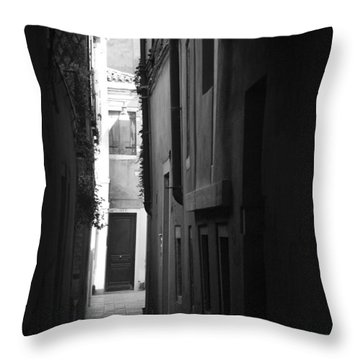 Light's Passage - Venice Throw Pillow by Lisa Parrish