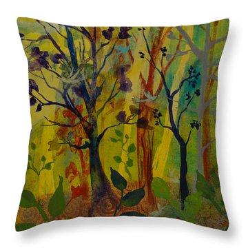 Light's Wonderful Secret Throw Pillow by Robin Maria Pedrero