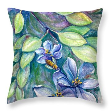 Lignum Vitae Throw Pillow