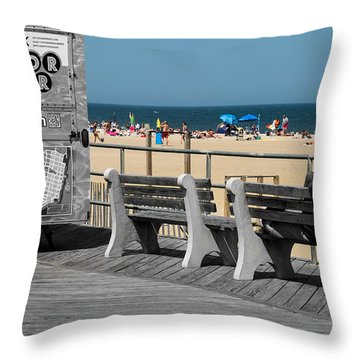 Like A Day At The Beach Throw Pillow