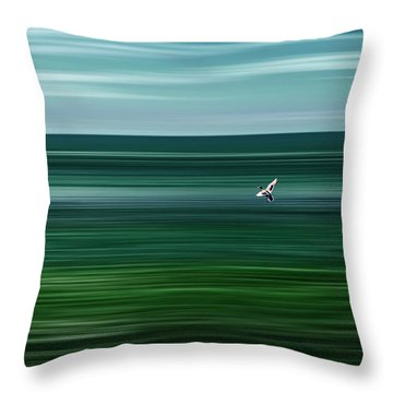 Like A Duck To Water Throw Pillow