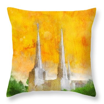 Like A Fire Is Burning Throw Pillow by Greg Collins