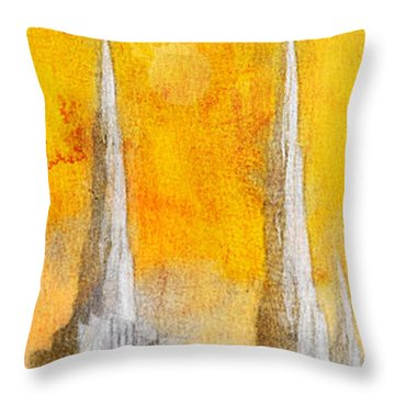 Like A Fire Is Burning - Panoramic Throw Pillow by Greg Collins
