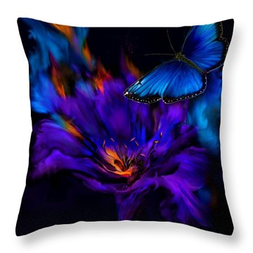 Like A Moth To A Flame Throw Pillow