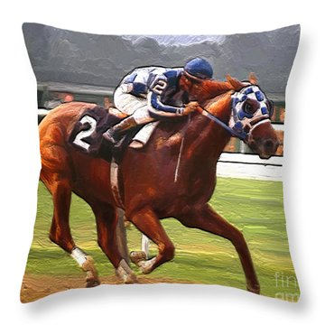 Like A Tremendous Machine Throw Pillow