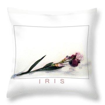 Like A Watercolor Iris Throw Pillow by J R Baldini Master Photographer