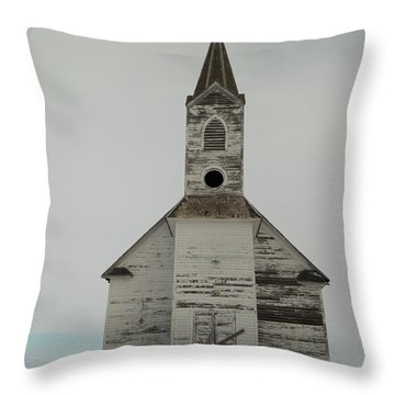 Like An Angel Boarded Up Throw Pillow by Jeff Swan