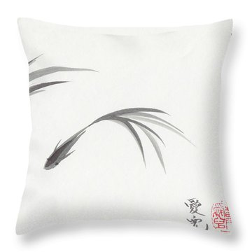 Like Fish With Water Throw Pillow