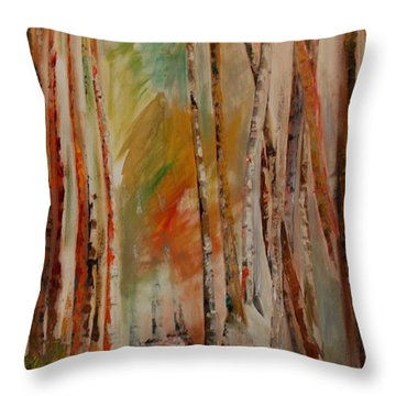 Like The Trees Always Looking Up Throw Pillow by PainterArtist FIN